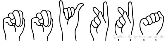 Nnykka im Fingeralphabet der Deutschen Gebärdensprache