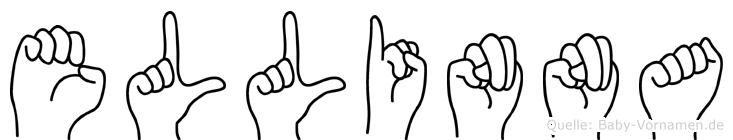 Ellinna im Fingeralphabet der Deutschen Gebärdensprache
