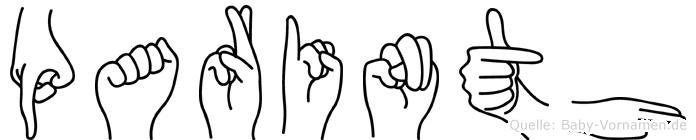 Parinth im Fingeralphabet der Deutschen Gebärdensprache