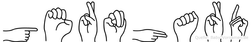 Gernhard im Fingeralphabet der Deutschen Gebärdensprache