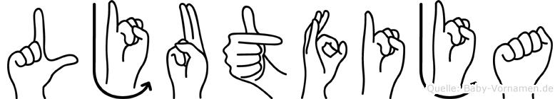 Ljutfija in Fingersprache für Gehörlose