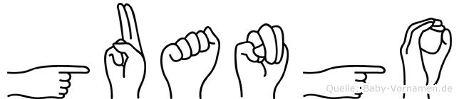 Guango in Fingersprache für Gehörlose
