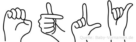 Etly in Fingersprache für Gehörlose