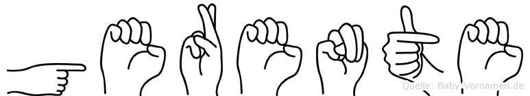 Gerente in Fingersprache für Gehörlose