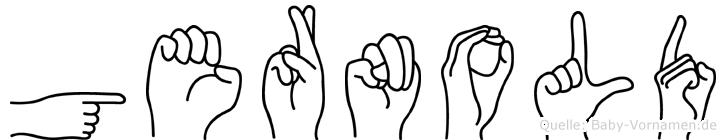 Gernold im Fingeralphabet der Deutschen Gebärdensprache