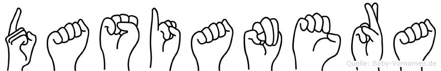Dasianera in Fingersprache für Gehörlose