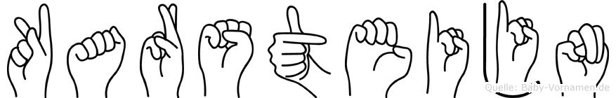 Karsteijn im Fingeralphabet der Deutschen Gebärdensprache