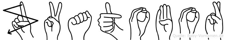 Zvatobor in Fingersprache für Gehörlose