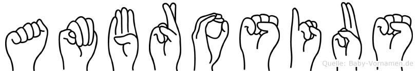 Ambrosius im Fingeralphabet der Deutschen Gebärdensprache