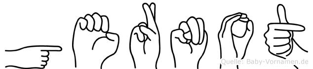 Gernot in Fingersprache für Gehörlose
