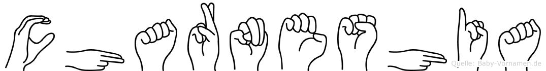 Charneshia in Fingersprache für Gehörlose