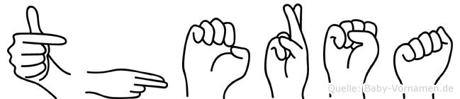 Thersa im Fingeralphabet der Deutschen Gebärdensprache