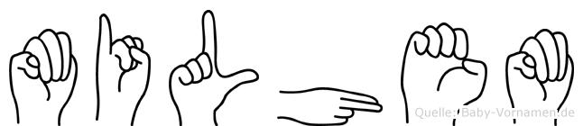 Milhem im Fingeralphabet der Deutschen Gebärdensprache