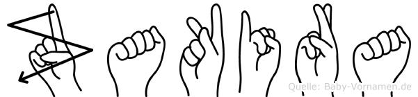Zakira im Fingeralphabet der Deutschen Gebärdensprache