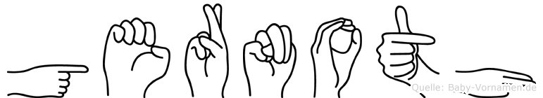 Gernoth in Fingersprache für Gehörlose