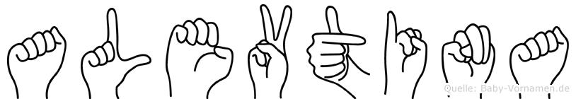 Alevtina in Fingersprache für Gehörlose