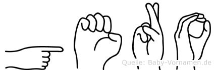 Gero im Fingeralphabet der Deutschen Gebärdensprache