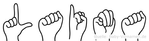 Laima in Fingersprache für Gehörlose