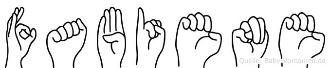 Fabiene im Fingeralphabet der Deutschen Gebärdensprache