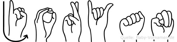 Joryan im Fingeralphabet der Deutschen Gebärdensprache