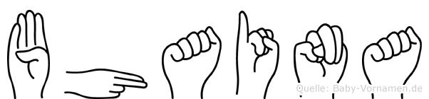 Bhaina im Fingeralphabet der Deutschen Gebärdensprache