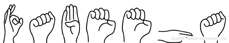 Fabeeha in Fingersprache für Gehörlose