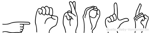 Gerold im Fingeralphabet der Deutschen Gebärdensprache