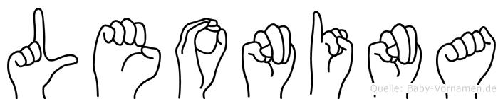 Leonina im Fingeralphabet der Deutschen Gebärdensprache