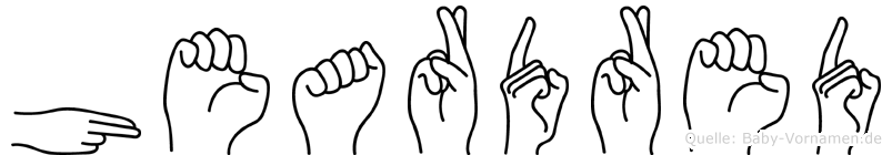 Heardred in Fingersprache für Gehörlose