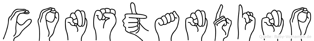 Constandino im Fingeralphabet der Deutschen Gebärdensprache