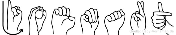 Joemart in Fingersprache für Gehörlose