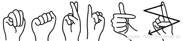 Maritz im Fingeralphabet der Deutschen Gebärdensprache