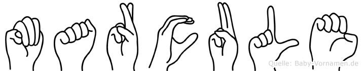 Marcule in Fingersprache für Gehörlose