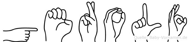 Gerolf im Fingeralphabet der Deutschen Gebärdensprache