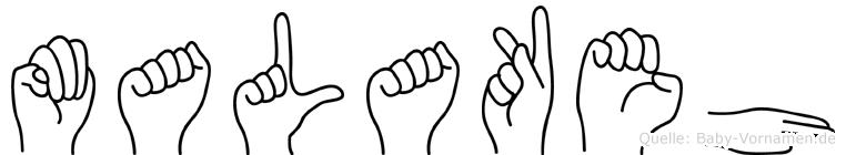 Malakeh in Fingersprache für Gehörlose