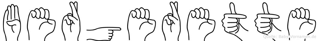 Bergerette in Fingersprache für Gehörlose