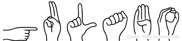 Gulabo in Fingersprache für Gehörlose