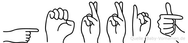 Gerrit in Fingersprache für Gehörlose