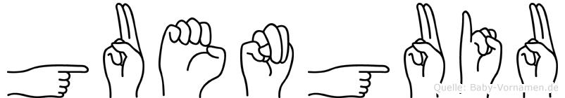 Guenguiu in Fingersprache für Gehörlose