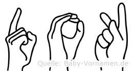 Dok im Fingeralphabet der Deutschen Gebärdensprache