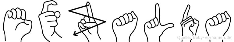 Exzalda in Fingersprache für Gehörlose