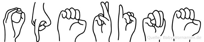Operine in Fingersprache für Gehörlose