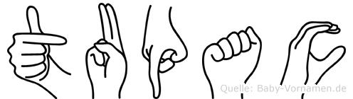 Tupac im Fingeralphabet der Deutschen Gebärdensprache