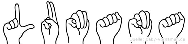 Lumana in Fingersprache für Gehörlose