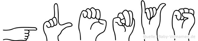 Glenys im Fingeralphabet der Deutschen Gebärdensprache