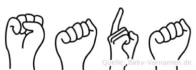 Sada im Fingeralphabet der Deutschen Gebärdensprache