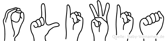 Oliwia im Fingeralphabet der Deutschen Gebärdensprache