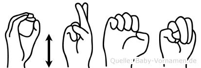 Ören im Fingeralphabet der Deutschen Gebärdensprache