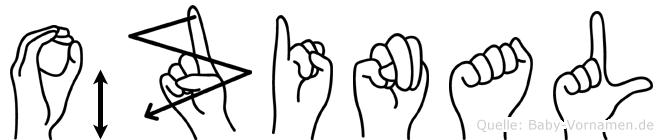 Özinal im Fingeralphabet der Deutschen Gebärdensprache