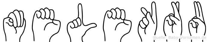 Melekru im Fingeralphabet der Deutschen Gebärdensprache